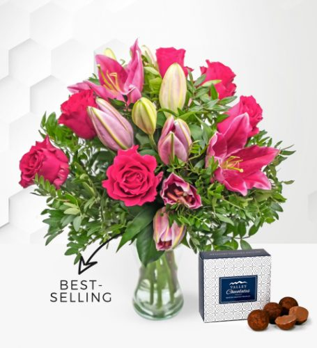 Rose and Lily - Free Chocs - Flower Delivery - Next Day Flower Delivery - Flowers By Prestige Flowers