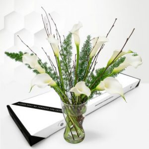 White Elegance - Letterbox Flowers - Letterbox Flowers by Post - Send Letterbox Flowers - Cheap Letterbox Flowers