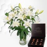 Double-Flowering Lilies with Chocolates